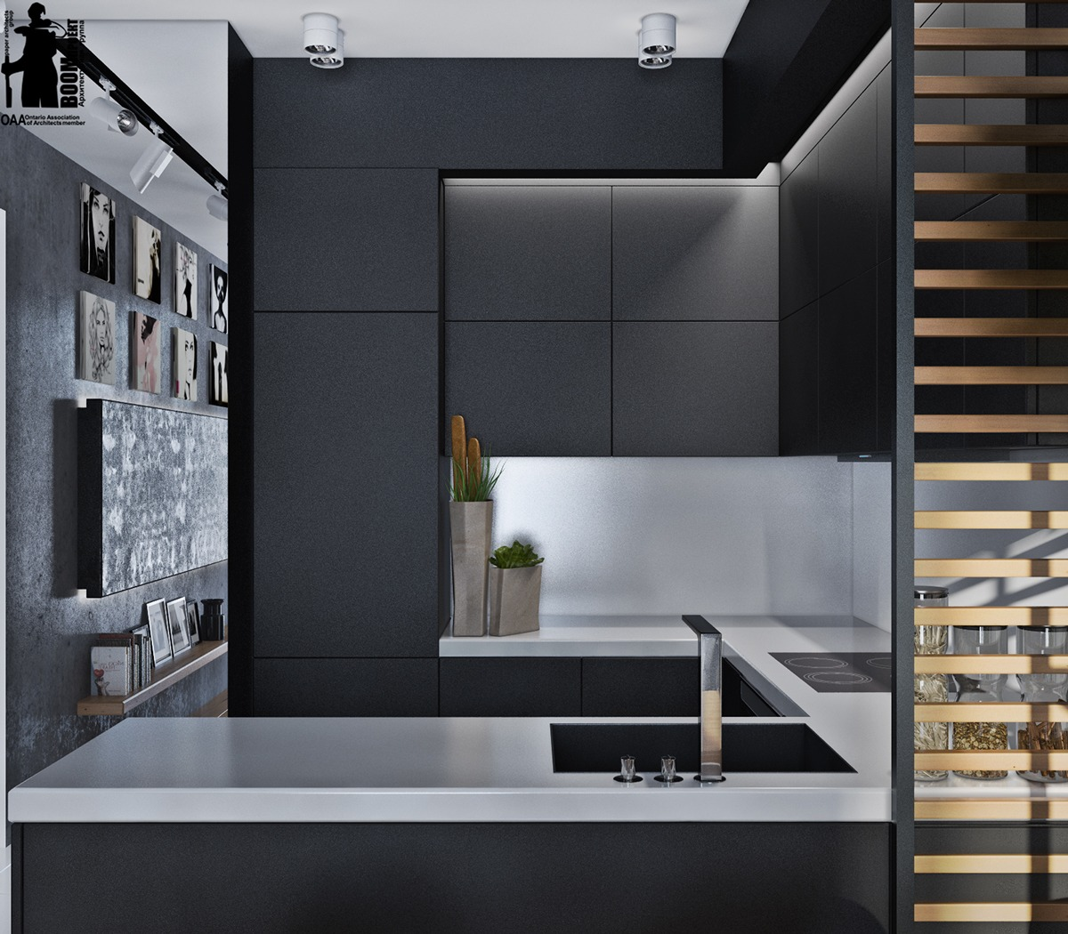 Matte Kitchen Cabinets Artistic Apartments With Monochromatic Color Schemes