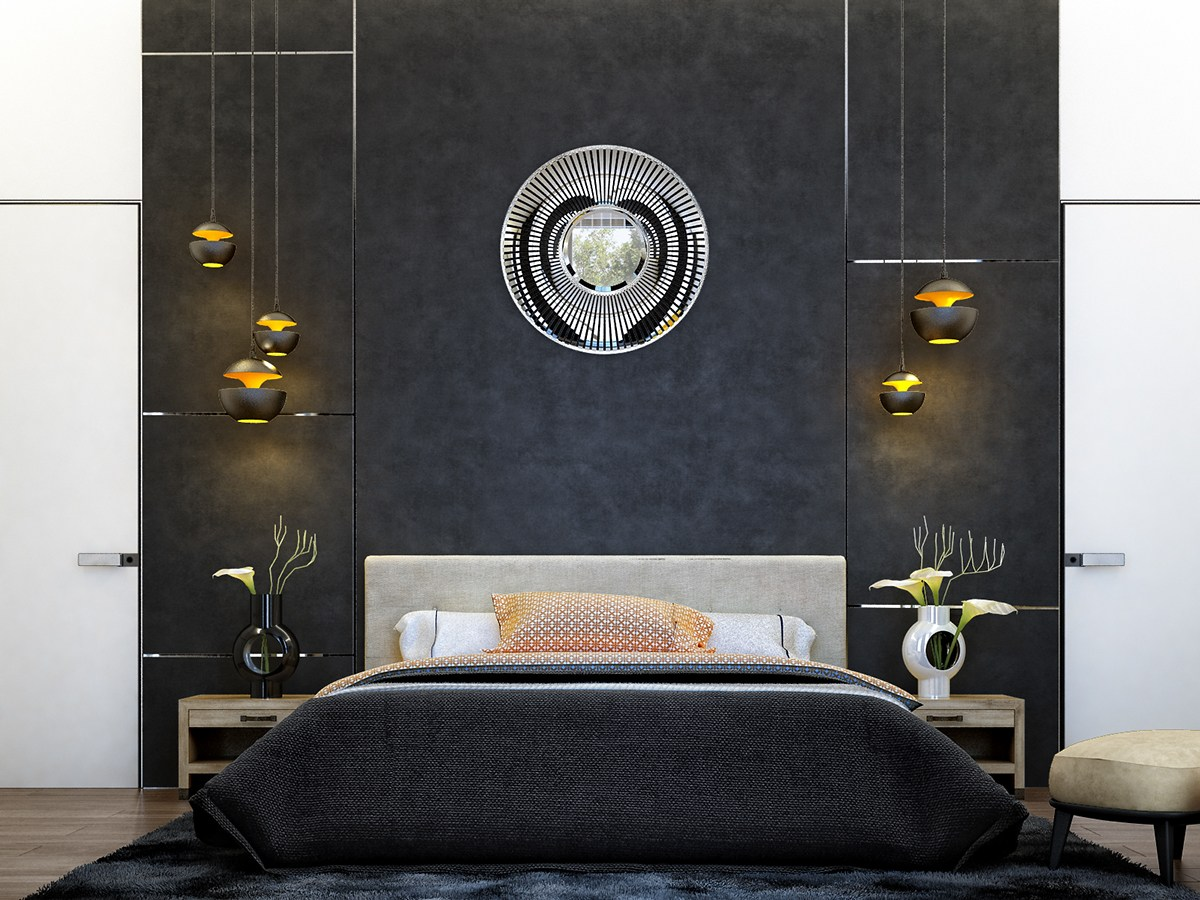 Art Deco Style Bedroom 6 Creative Bedrooms With Artwork And Diverse Textures