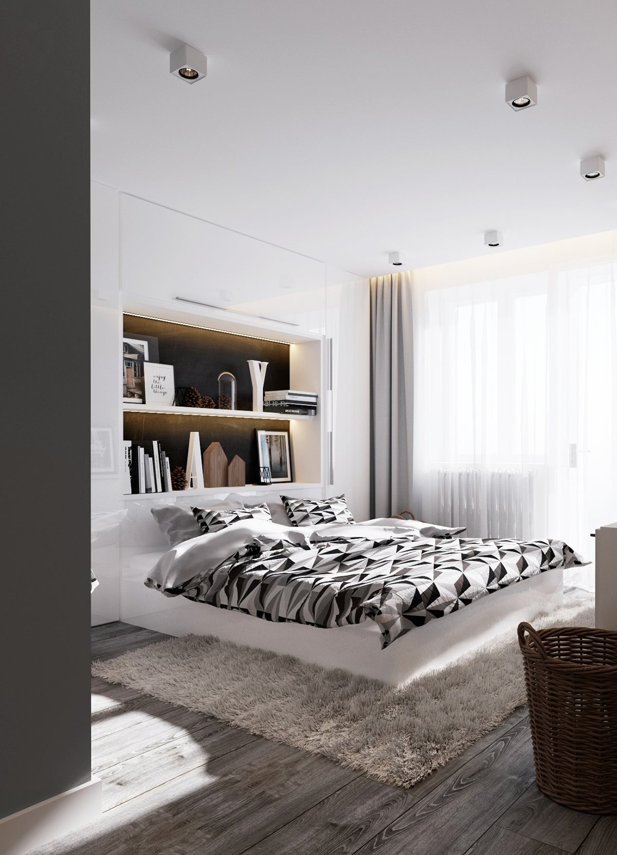 Black And White Artwork For Bedroom 6 Creative Bedrooms With Artwork And Diverse Textures