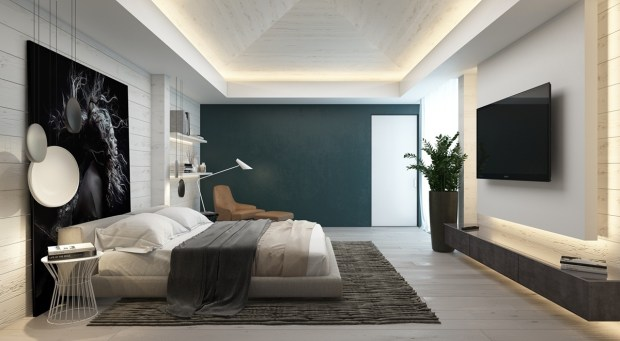 7 bedrooms with brilliant accent wall ideas