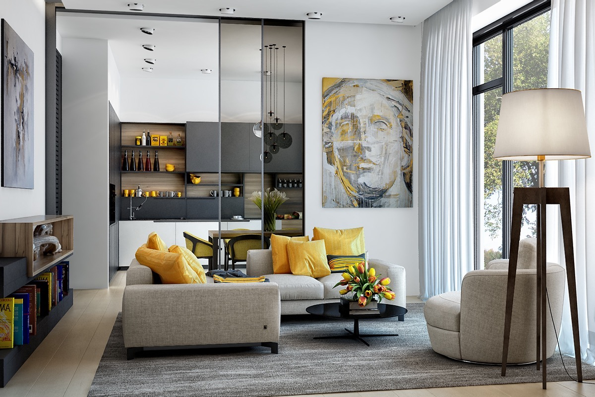Yellow Decor For Living Room 25 Gorgeous Yellow Accent Living Rooms
