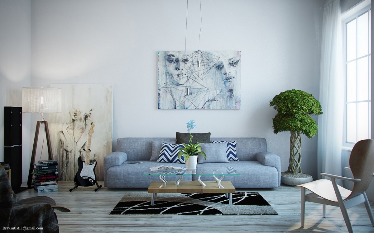 Grey White And Blue Living Room Large Wall Art For Living Rooms Ideas Inspiration
