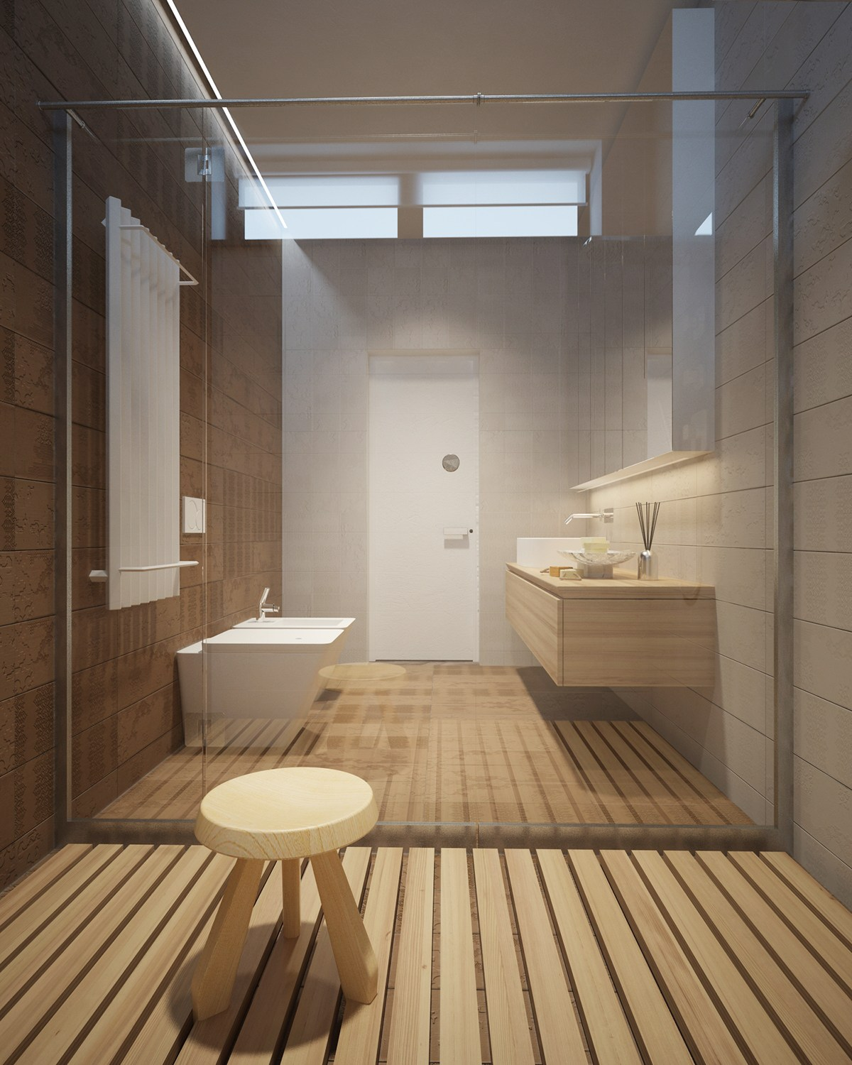 Wood Shower Floor 3 Luxury Homes Taking Different Approaches To Wall Art