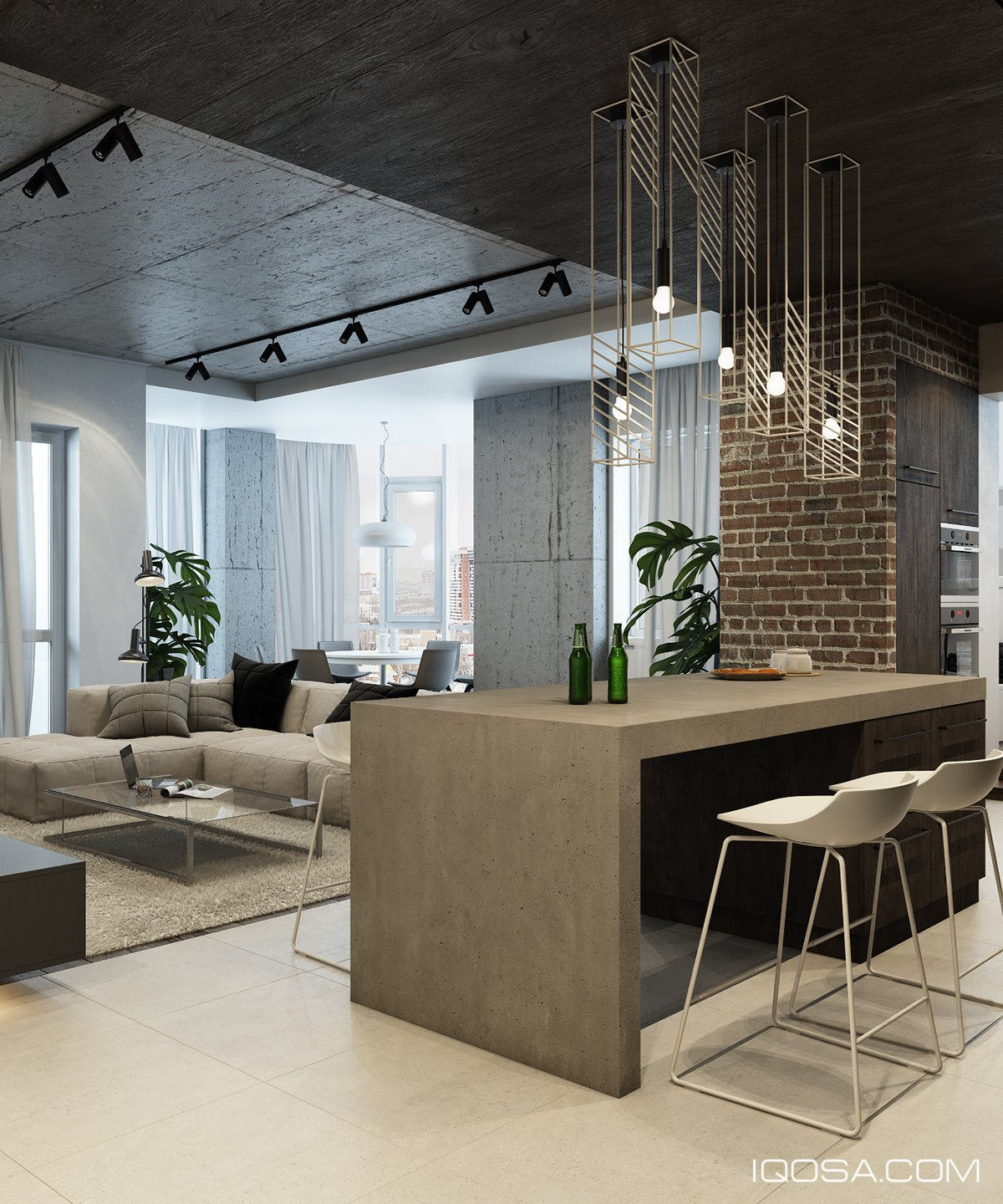 Accent Designs Design A Chic Modern Space Around A Brick Accent Wall