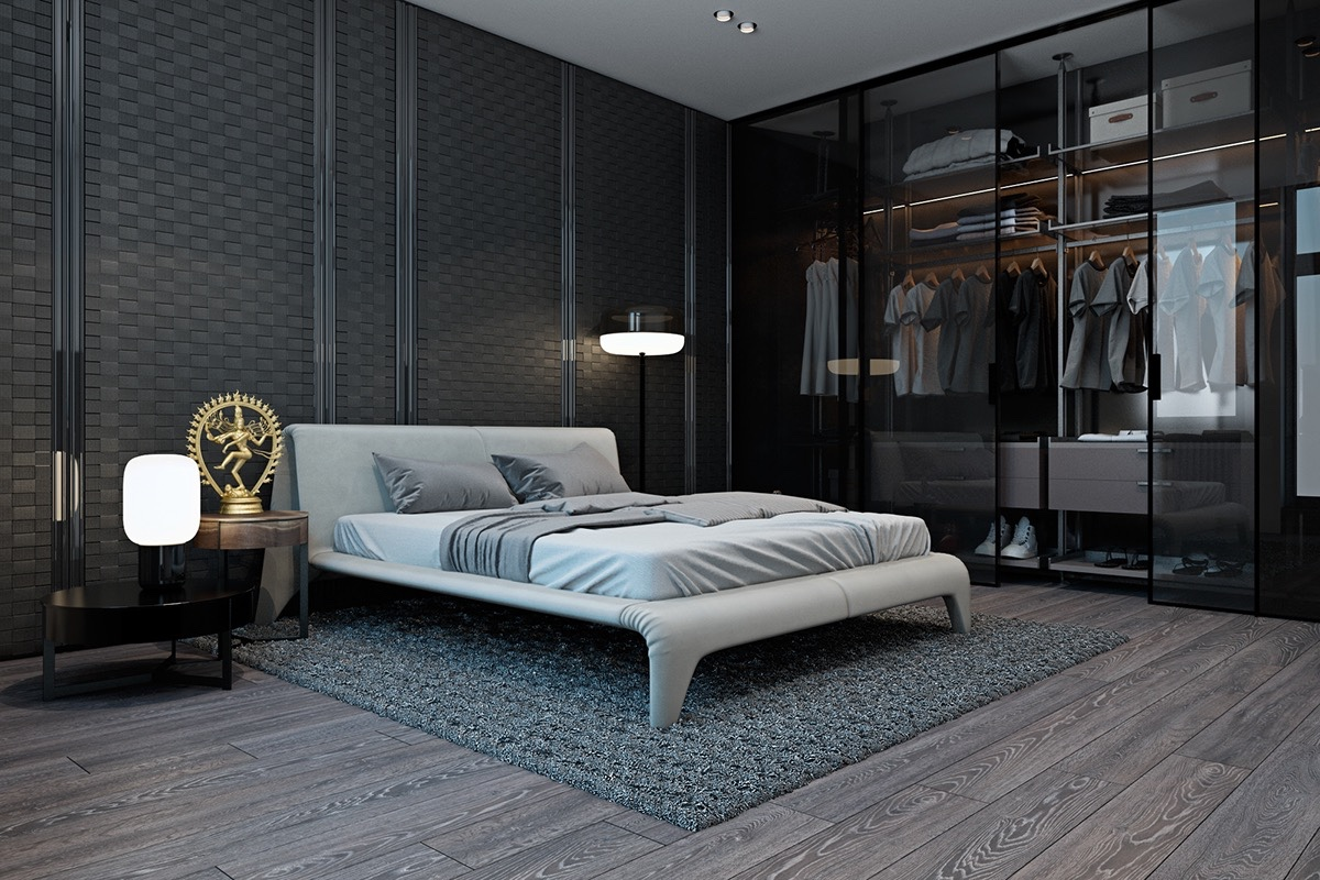 Modern Flat Bed 20 Beautiful Examples Of Bedrooms With Attached Wardrobes