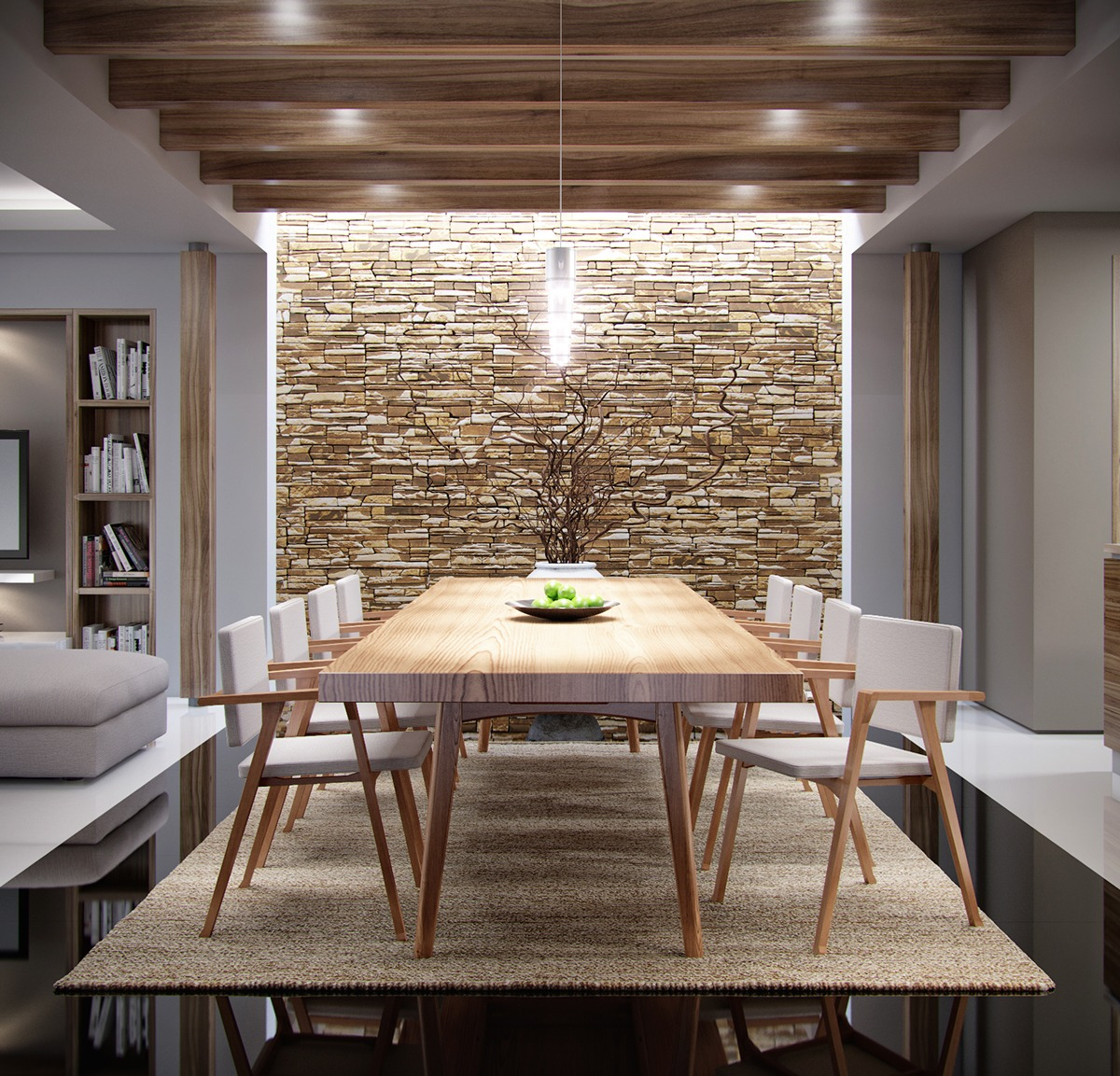 Accent Stone Wall The Natural Side Of Neutral Color Palettes 5 Inspiring Homes