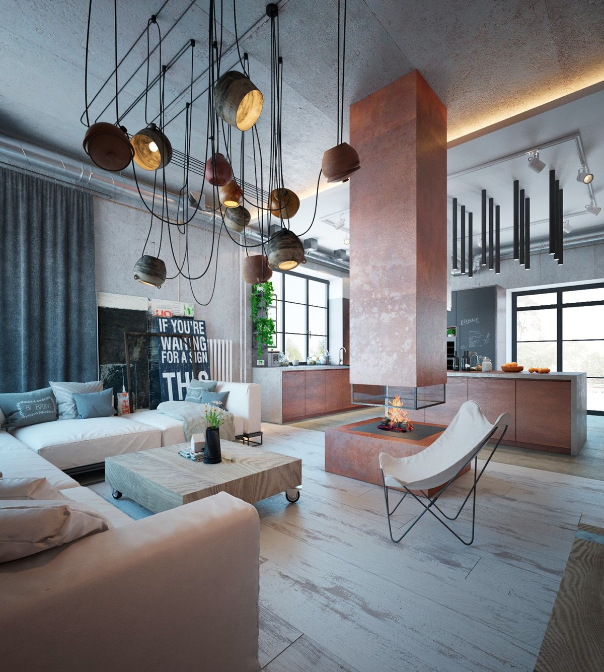 Küche Industrial Design An Industrial Home With Warm Hues