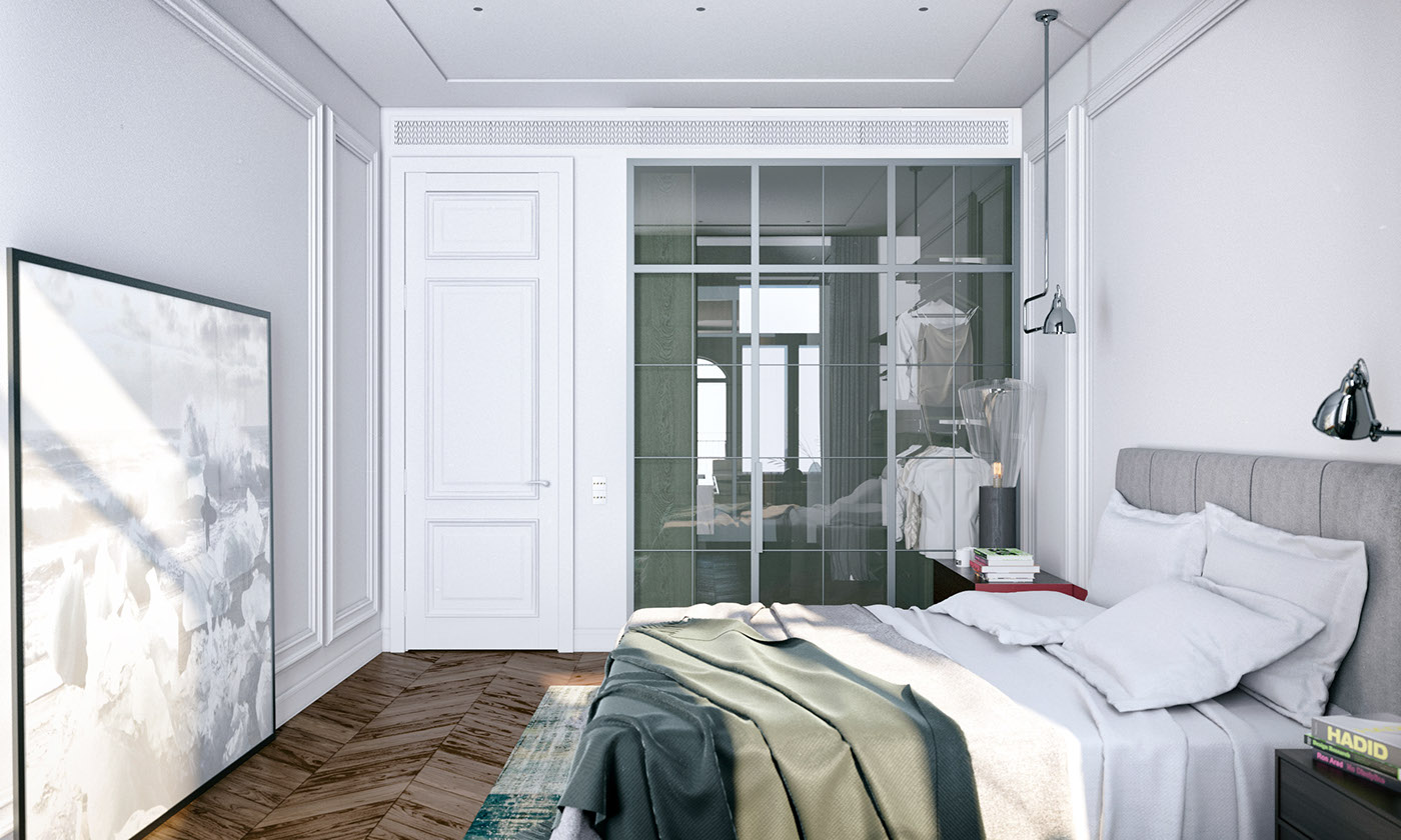 Modern Bedroom Walls Modern Decor Meets Classical Features In Two Transitional