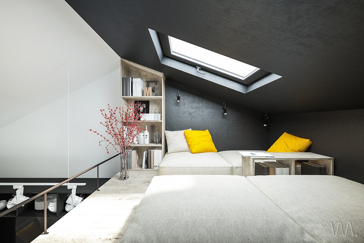 Bedroom Skylight Small Homes That Use Lofts To Gain More Floor Space