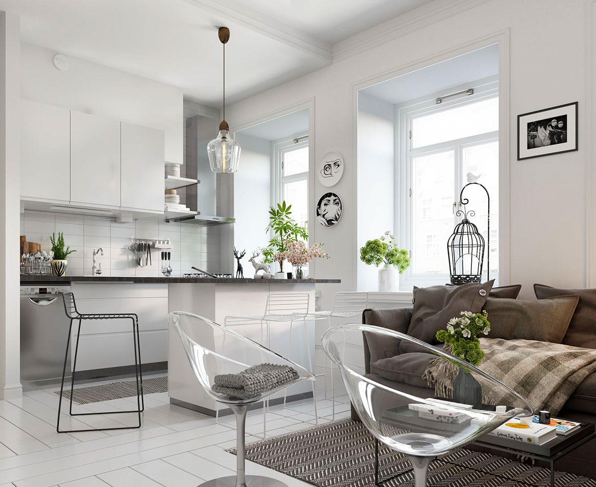 Swedish Decorating Bright Scandinavian Decor In 3 Small One Bedroom Apartments