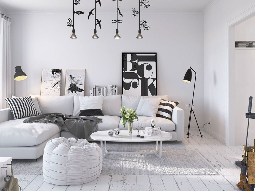Scandinavian Living Room Design Ideas Bright Scandinavian Decor In 3 Small One Bedroom Apartments