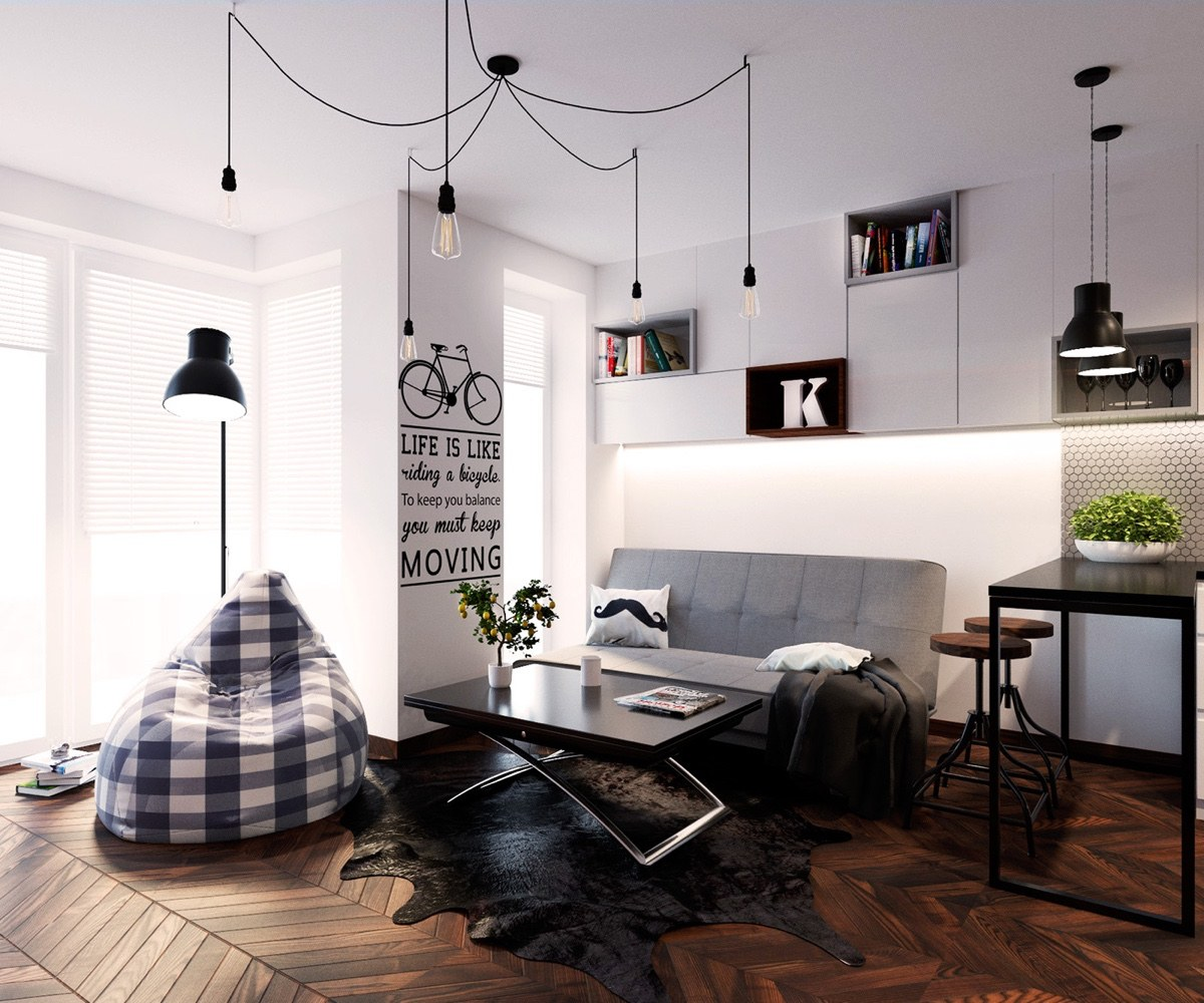 Bean Bag Living Room 5 Simple And Achievable Scandinavian Apartment Designs