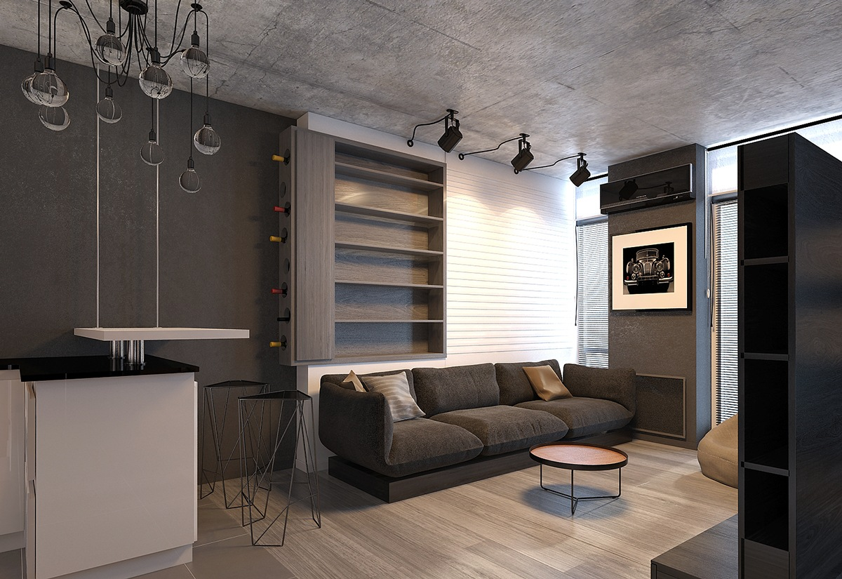 Wohnzimmer Ideen Dunkel 4 Dark Living Rooms With Strong Personality