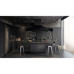 Small Crop Of Black Kitchen Walls