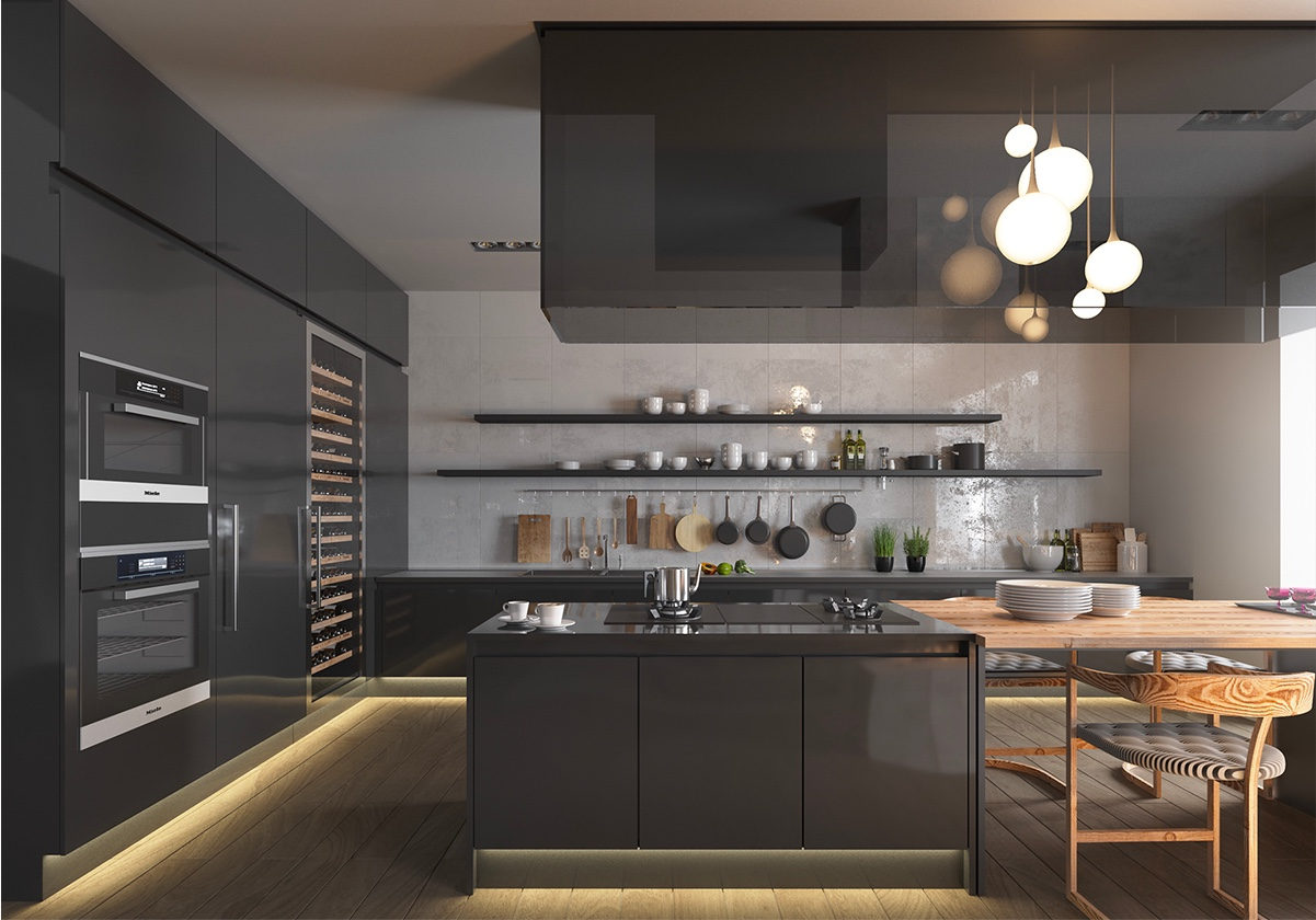 Black Design For Kitchen 36 Stunning Black Kitchens That Tempt You To Go Dark For Your Next