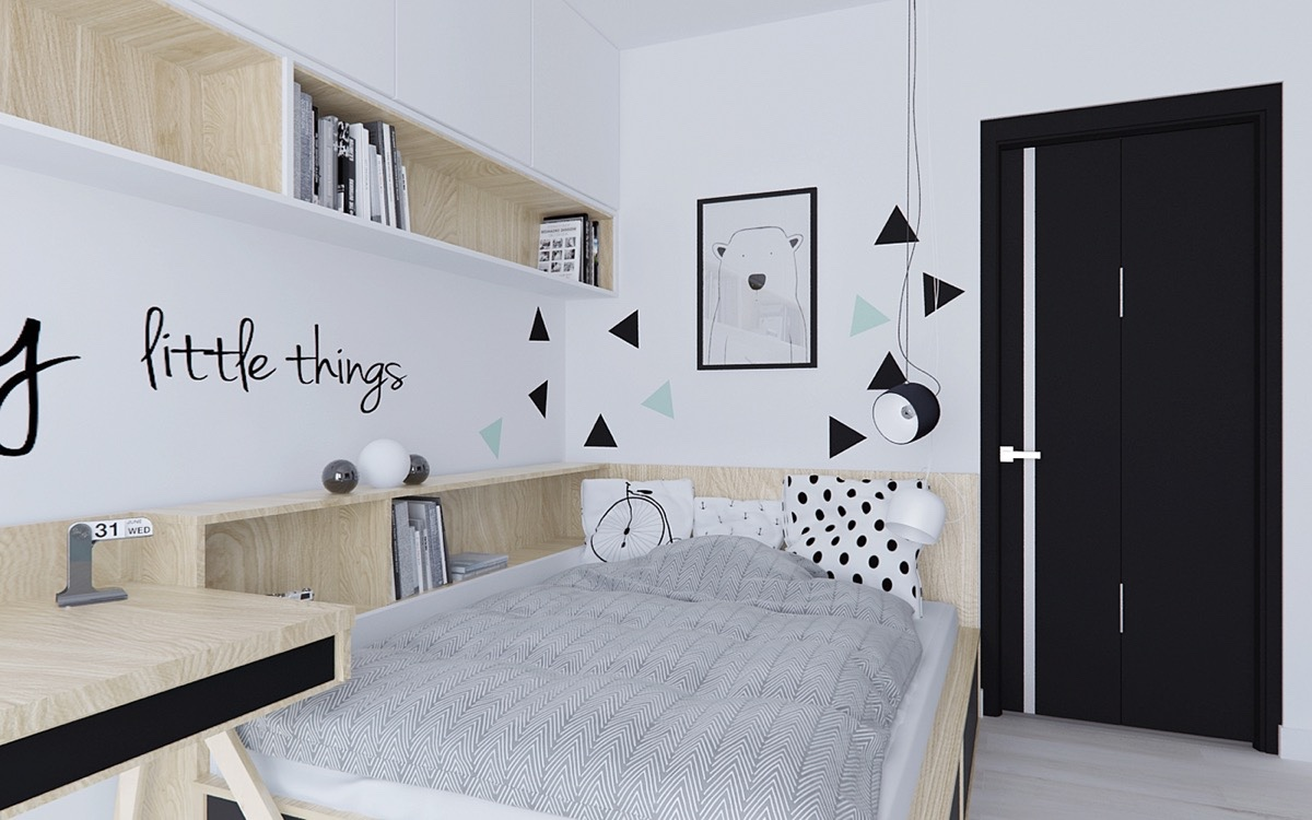 Dekorasi Kamar Perempuan Sederhana 40 Beautiful Black & White Bedroom Designs