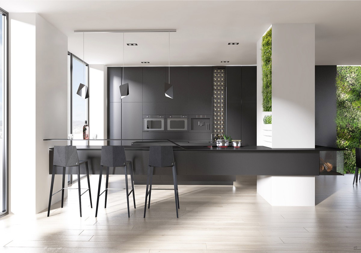 Light Floors Dark Walls 36 Stunning Black Kitchens That Tempt You To Go Dark For Your Next