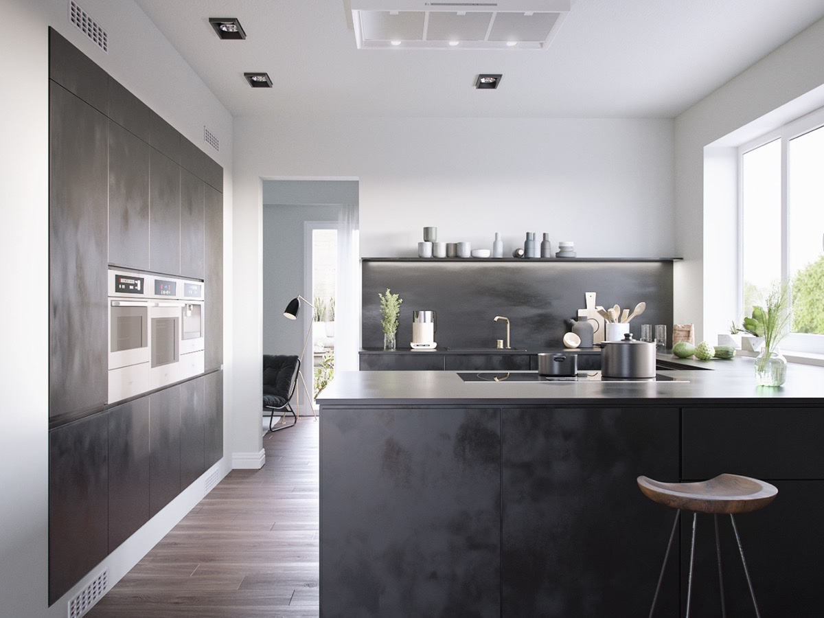 Matte Kitchen Cabinets 36 Stunning Black Kitchens That Tempt You To Go Dark For