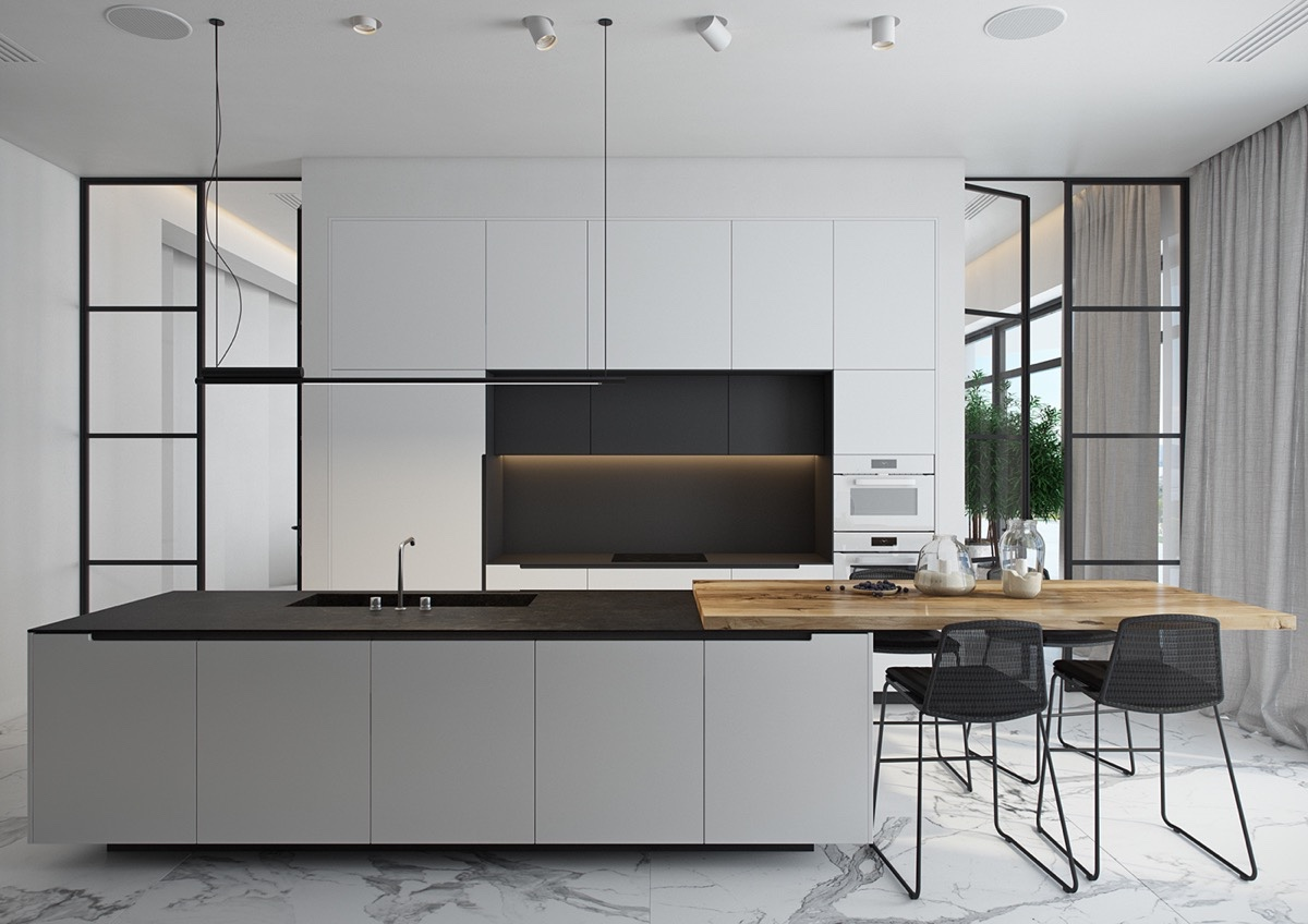 Black Design For Kitchen 40 Beautiful Black White Kitchen Designs