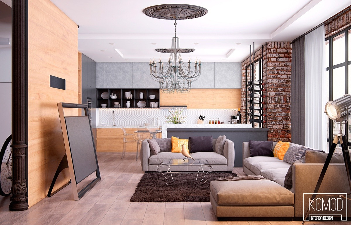 Rustic Walls Interior Living Rooms With Exposed Brick Walls