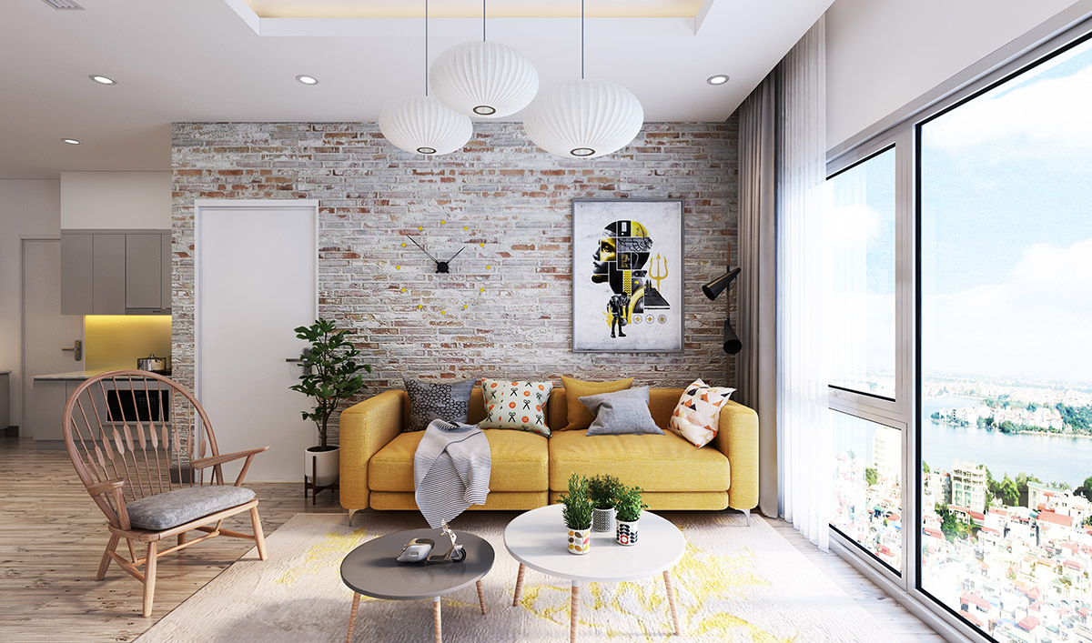 Brick Meubles Divan Lit Living Rooms With Exposed Brick Walls