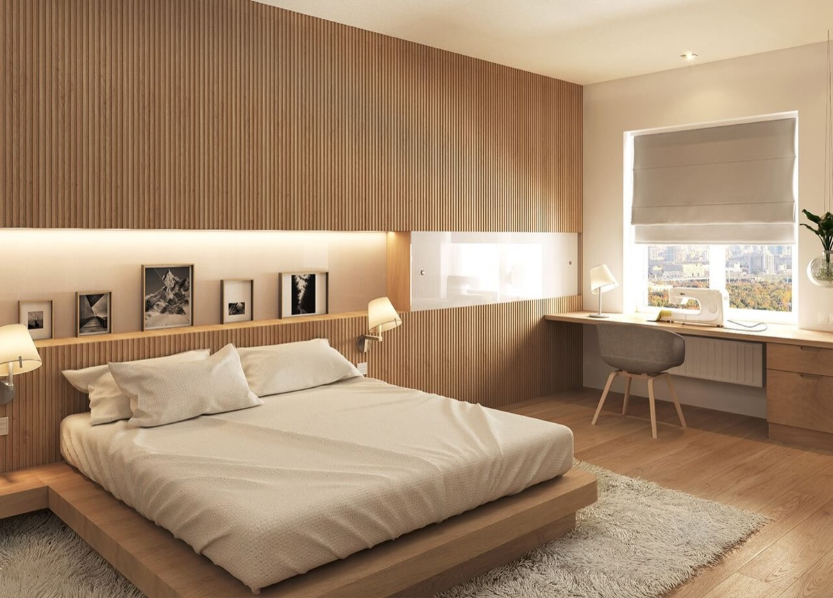 Vertical Wood Slat Wall 25 Beautiful Examples Of Bedroom Accent Walls That Use Slats To