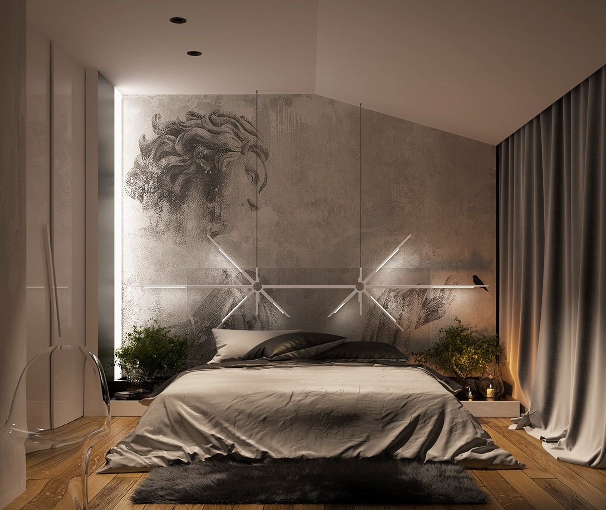 Design Wall Concrete Wall Designs 30 Striking Bedrooms That Use