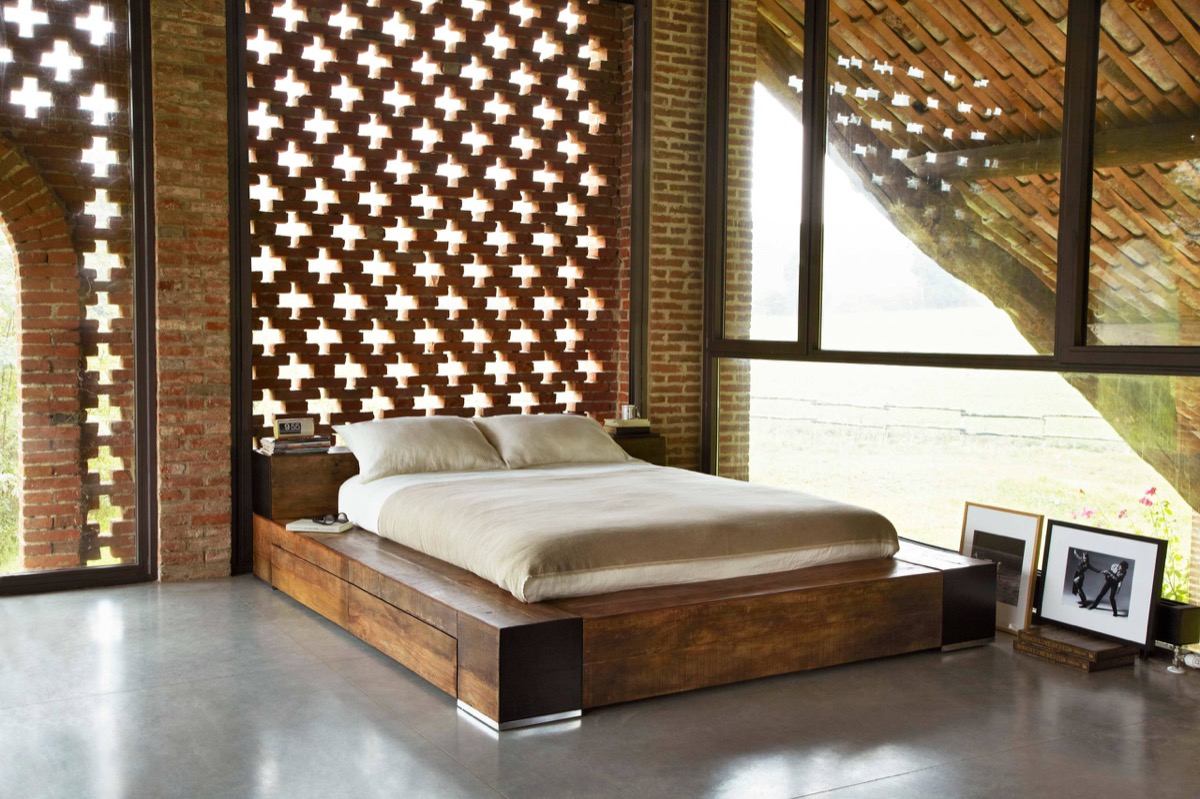 Brick Bed Frames Bedrooms With Exposed Brick Walls