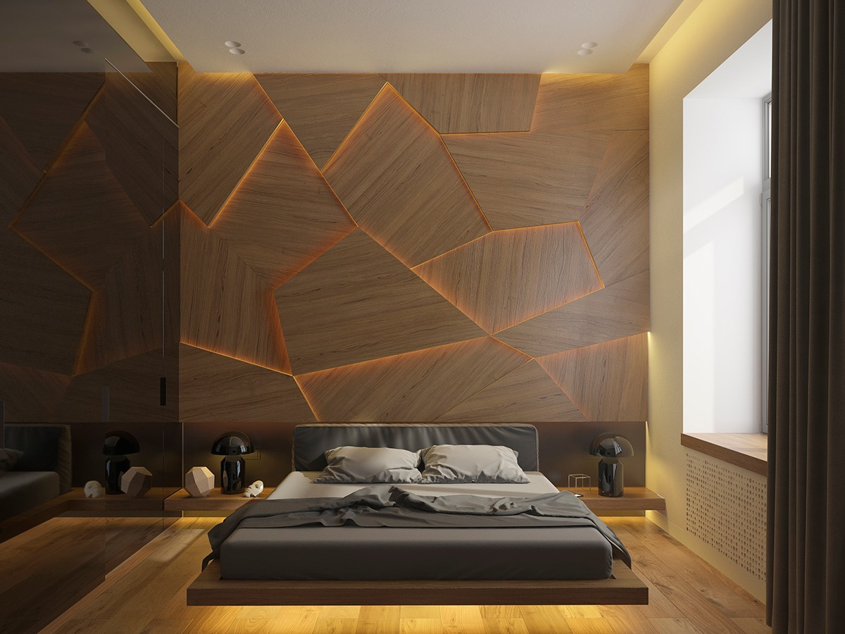 Bad Design Modern Wooden Wall Designs 30 Striking Bedrooms That Use The Wood Finish