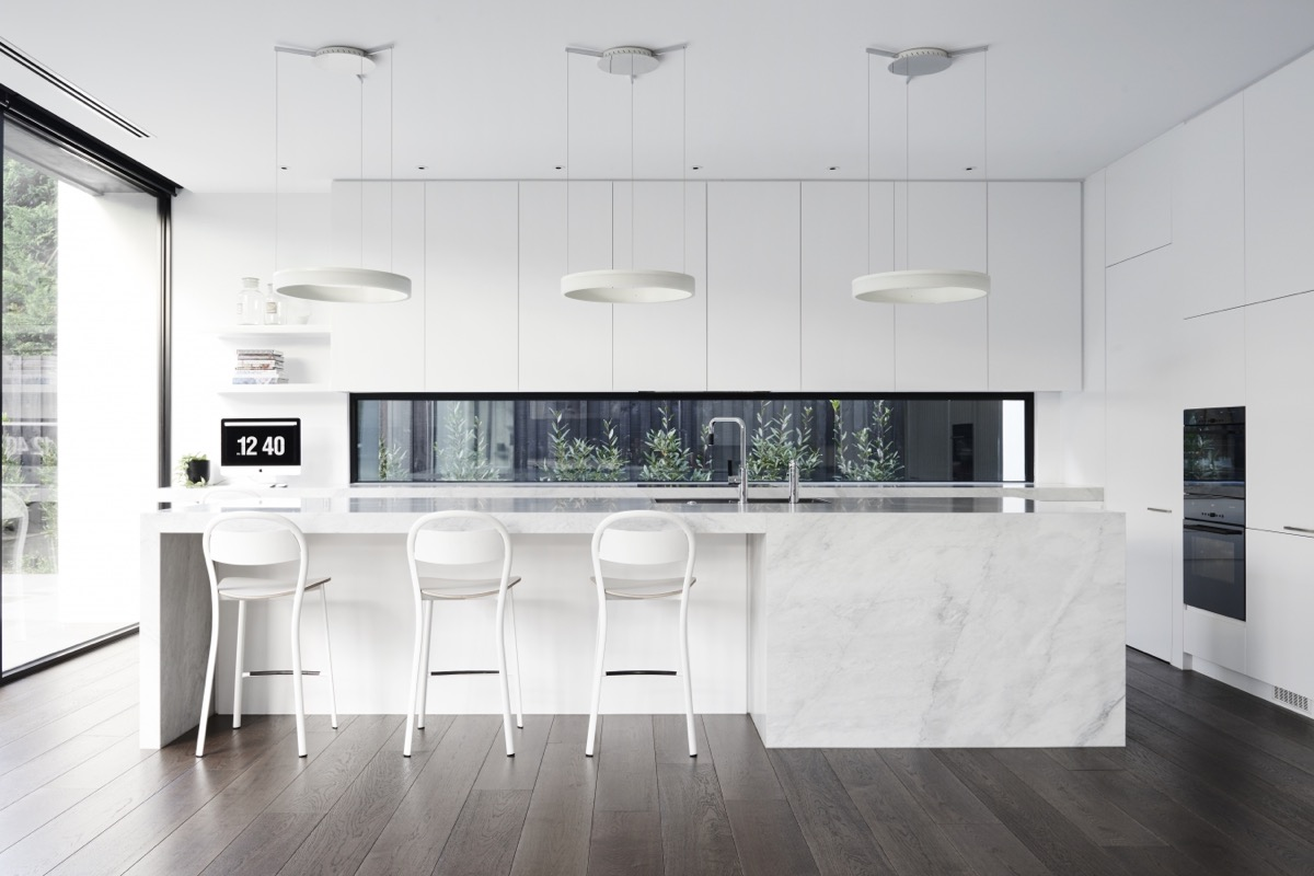 White Marble Kitchen Floors 30 Modern White Kitchens That Exemplify Refinement
