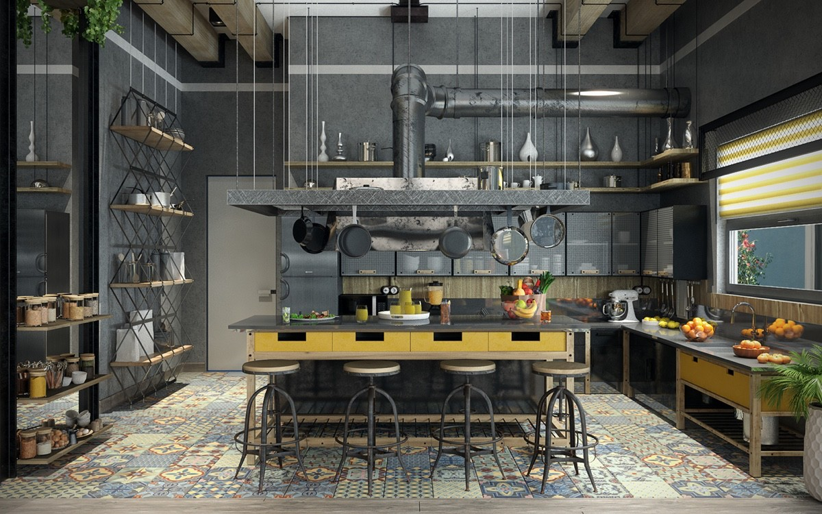 Küche Industrial Design 32 Industrial Style Kitchens That Will Make You Fall In Love