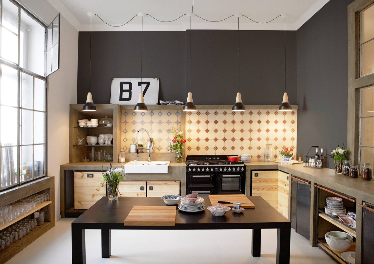 32 Industrial Style Kitchens That Will Make You Fall In Love
