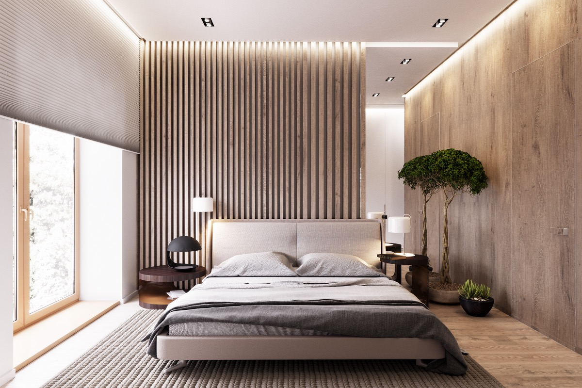 Partitioned Bedroom Wooden Wall Designs 30 Striking Bedrooms That Use The