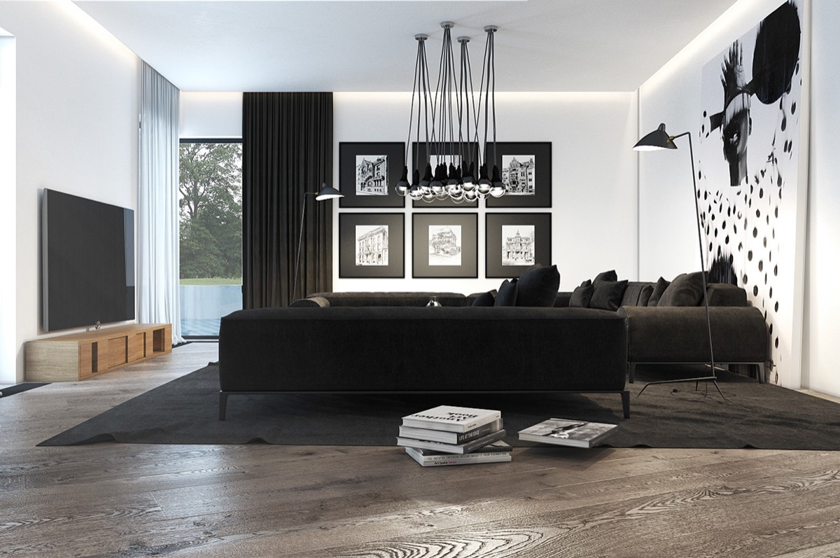 Black And White Furniture Living Room 30 Black And White Living Rooms That Work Their Monochrome Magic