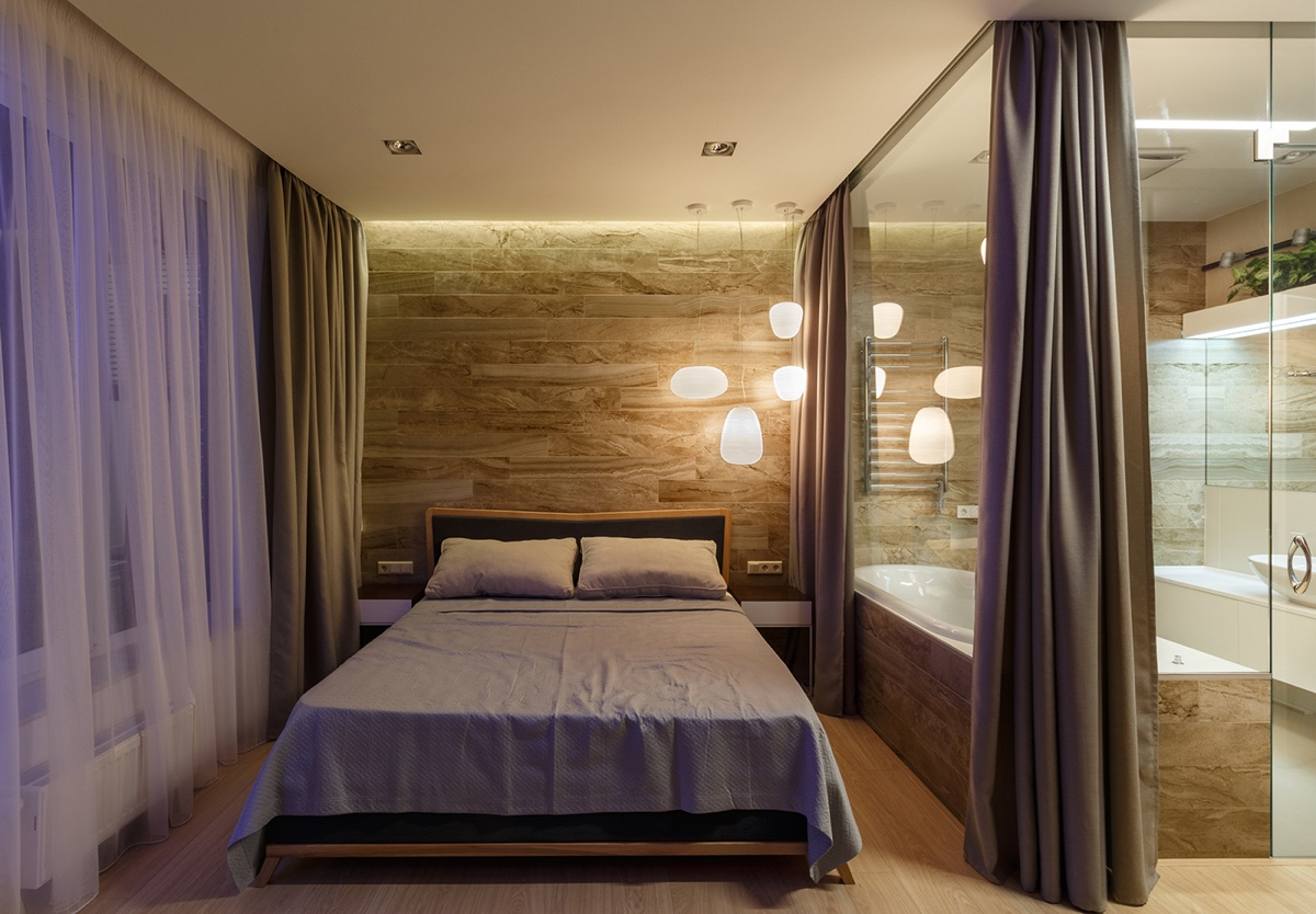 Bedroom Mood Lighting A Pair Of Stylish Apartments That Put Their Extra Rooms To