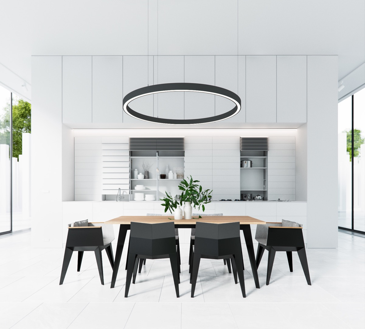 Dining Room Black And White 30 Black And White Dining Rooms That Work Their Monochrome Magic