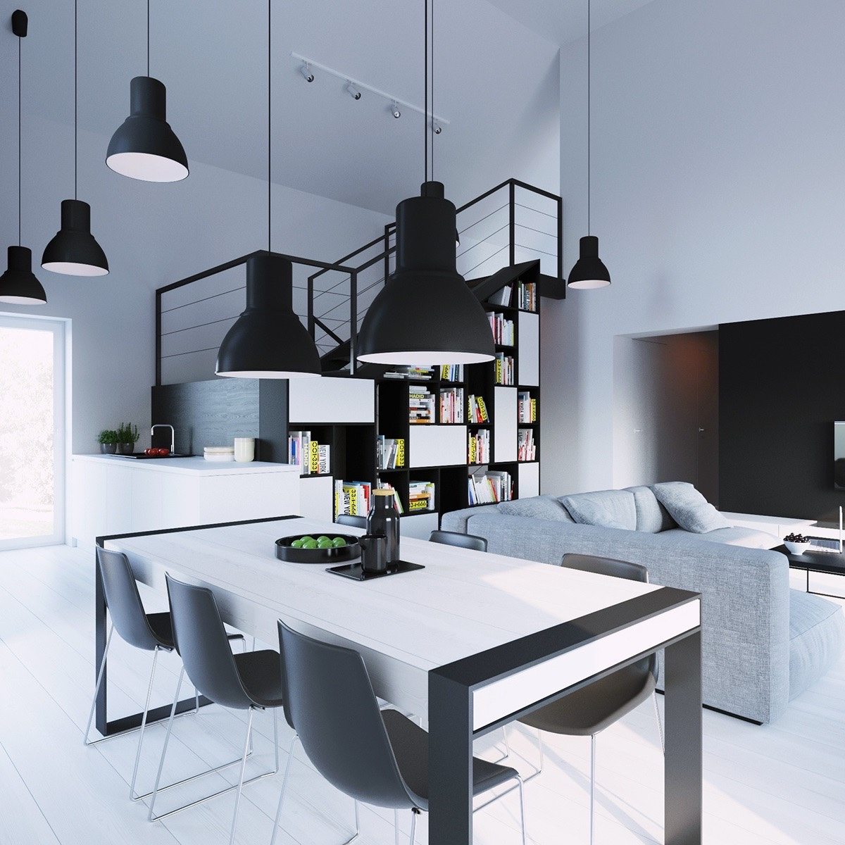 Monochrome Furniture 30 Black And White Dining Rooms That Work Their Monochrome Magic