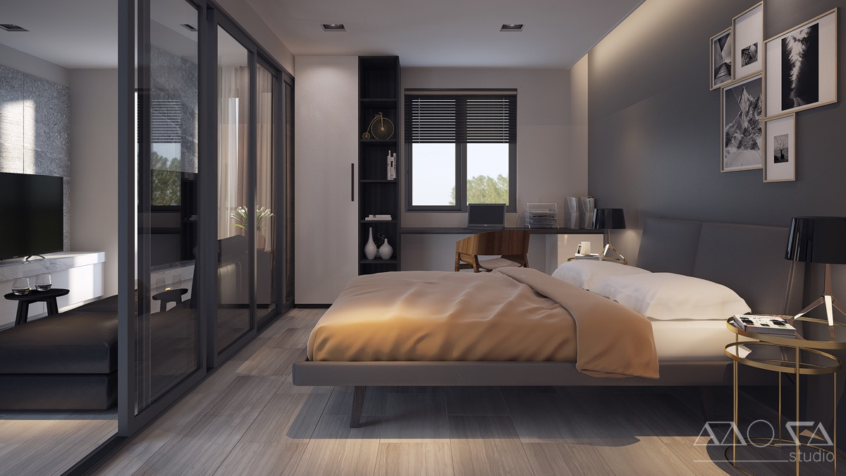 Studio Apartment Partition 3 Modern Studio Apartments With Glass Walled Bedrooms