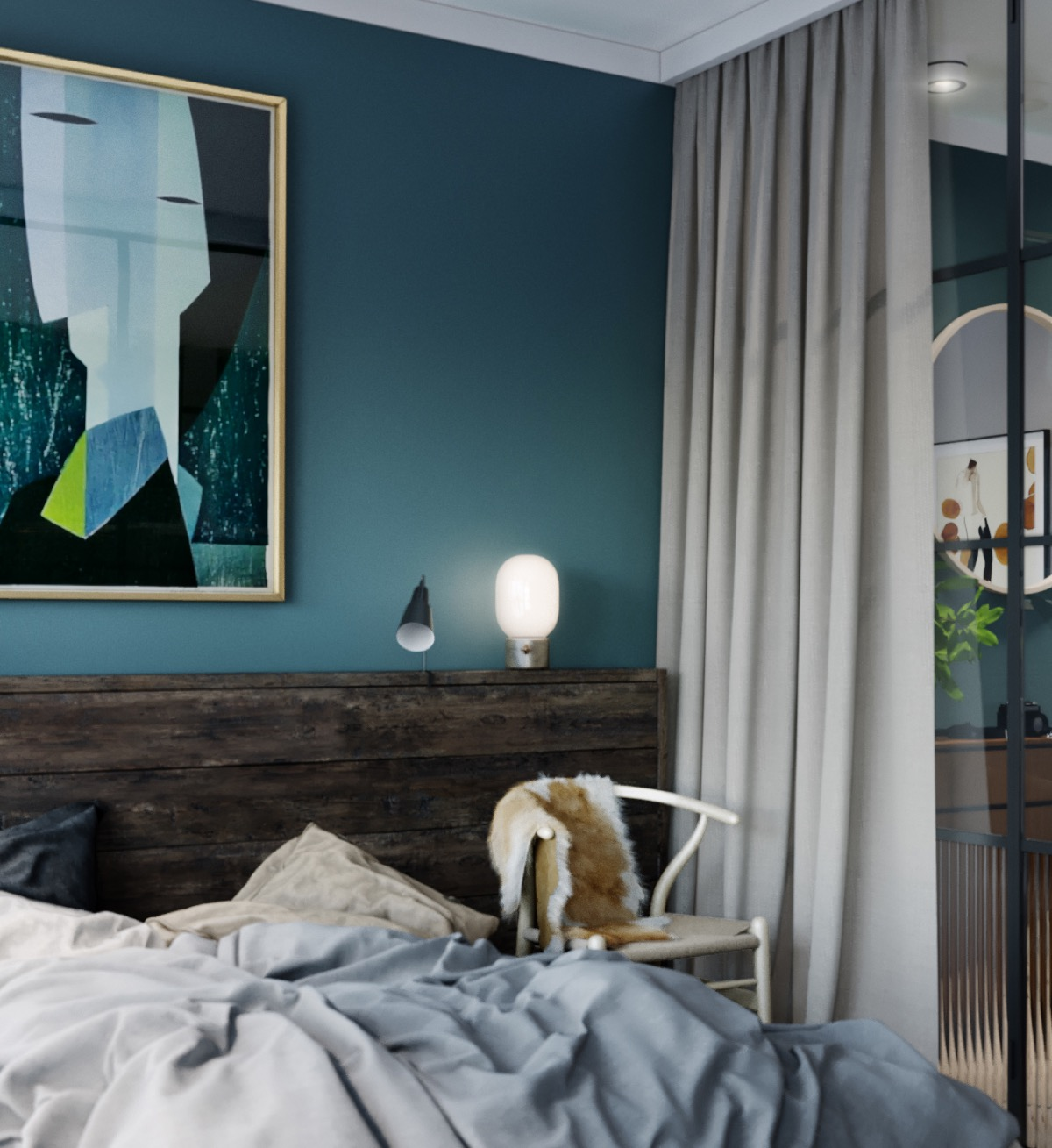Green Accent Wall Home Designing 4 Studios That Make Beautiful Use Of