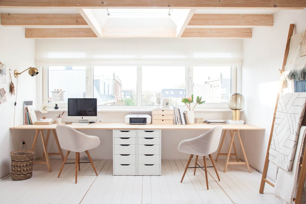 2 Person Executive Desk 36 Inspirational Home Office Workspaces That Feature 2
