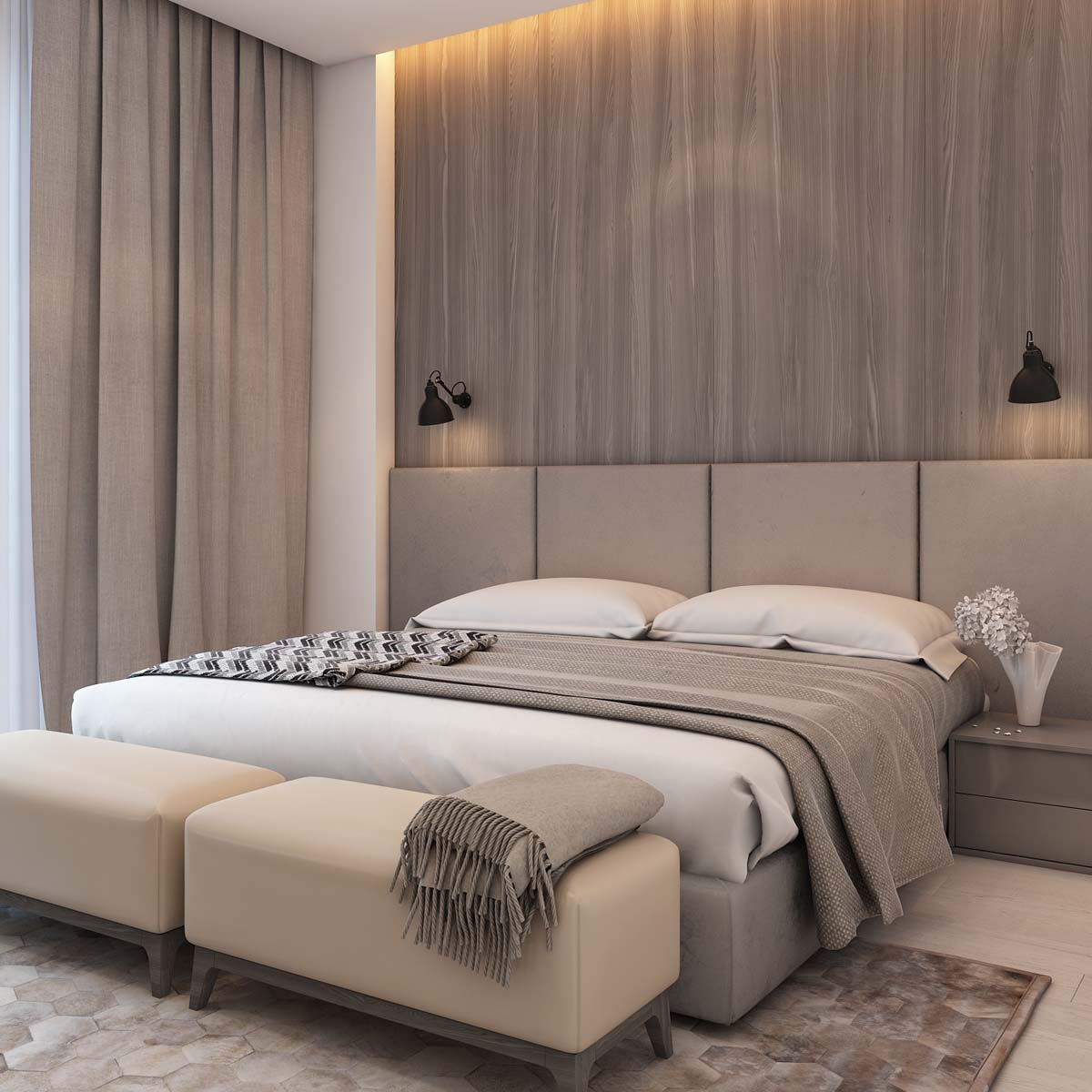 Simple Bedroom Designs A Simple Modern Apartment In Moscow