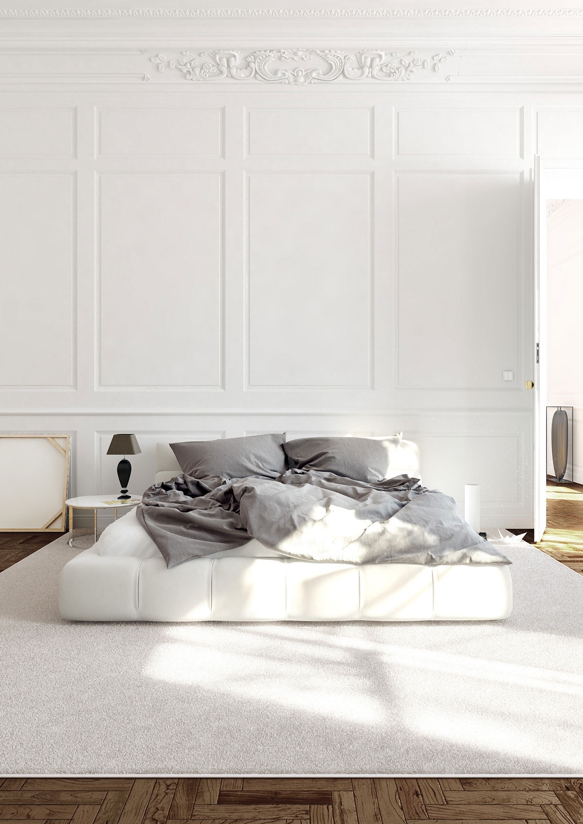 Bedroom Paneling 29 White Bedrooms That Exude Calmness