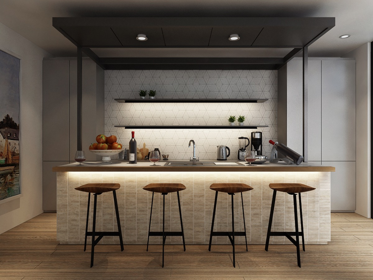 Pendelleuchten Küchenblock 25 Examples Of Awesome Modern Kitchen Lighting
