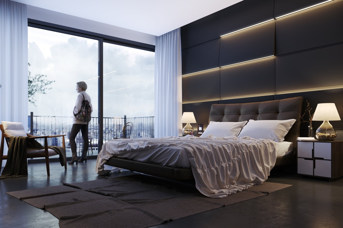 Modern Bedroom Walls 44 Awesome Accent Wall Ideas For Your Bedroom
