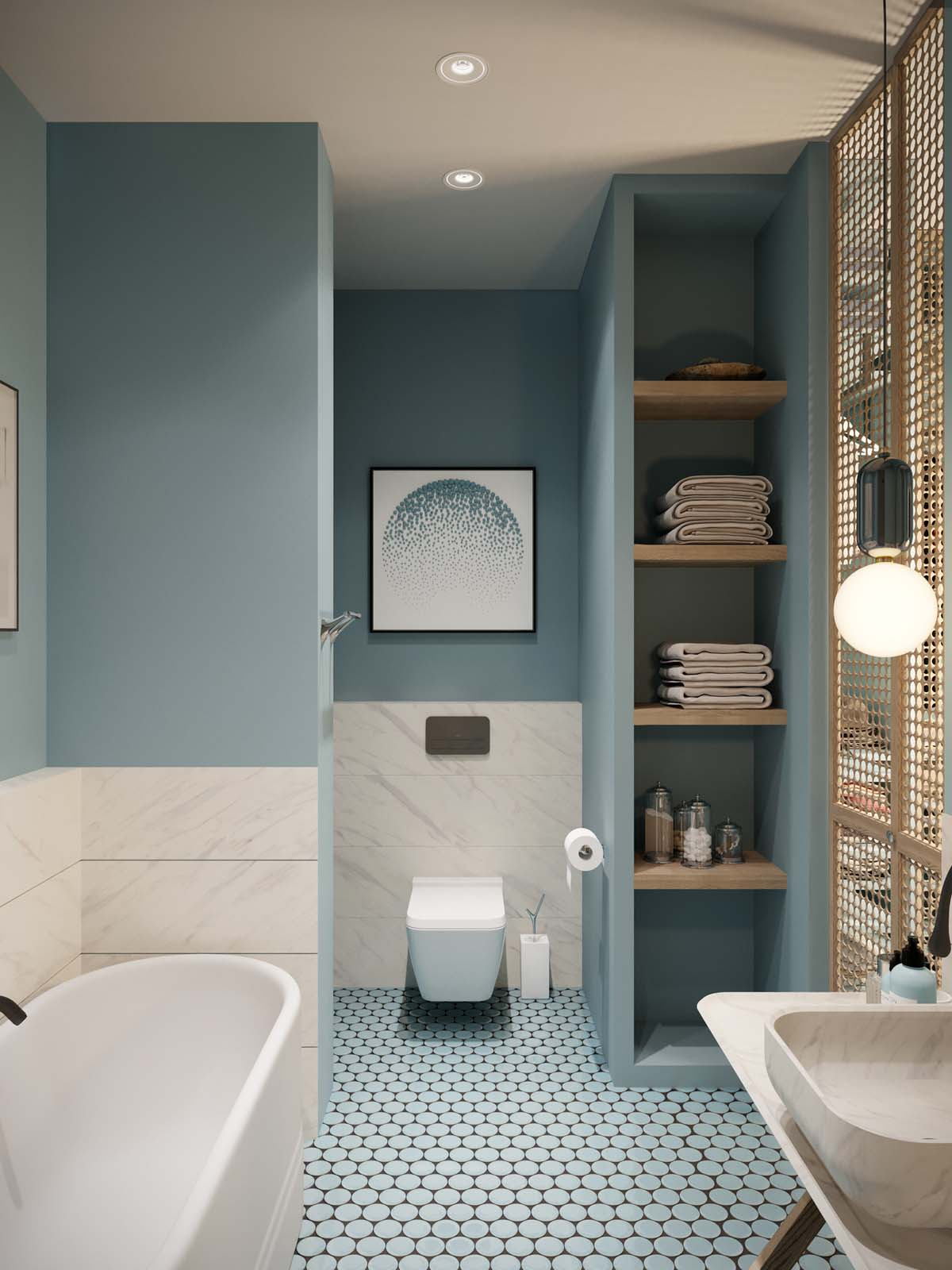 Soak Badkamer A Luxurious Home Interior With Pretty, Muted Pastel Colors