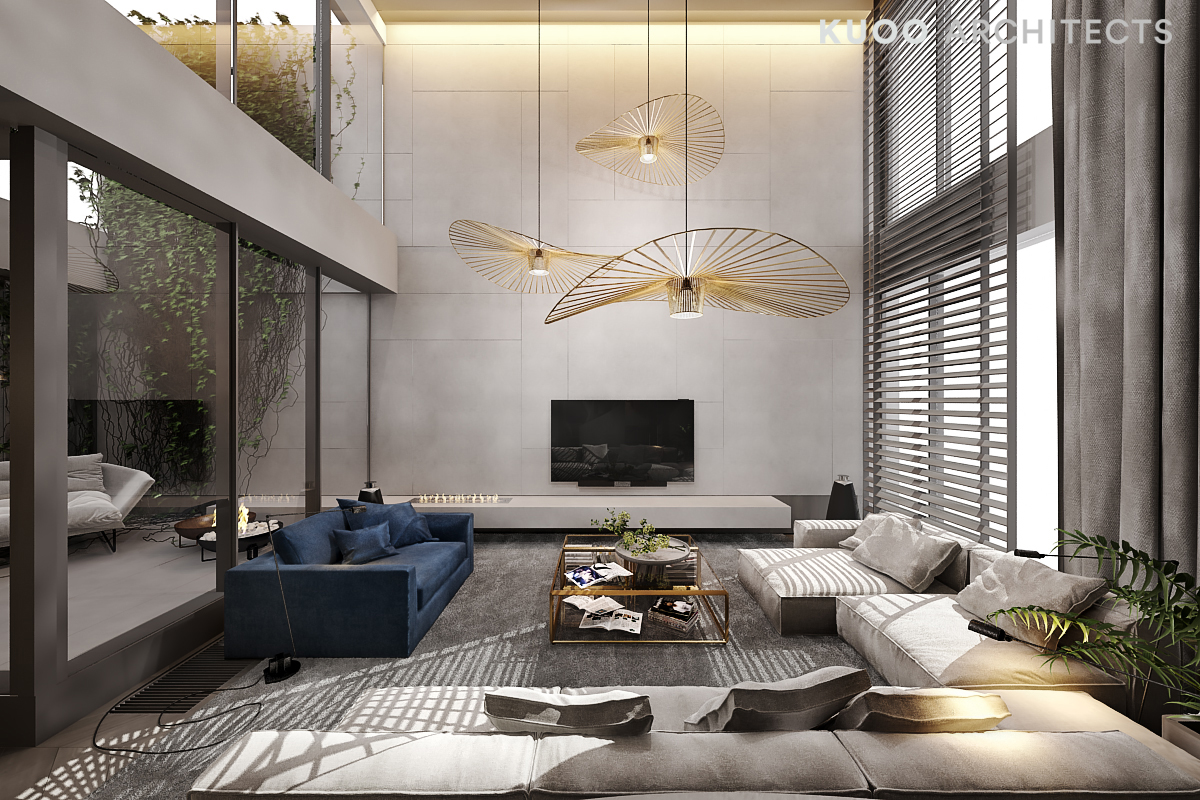 Luxury Ceiling Design A Luxury Apartment With A Double Height Ceiling