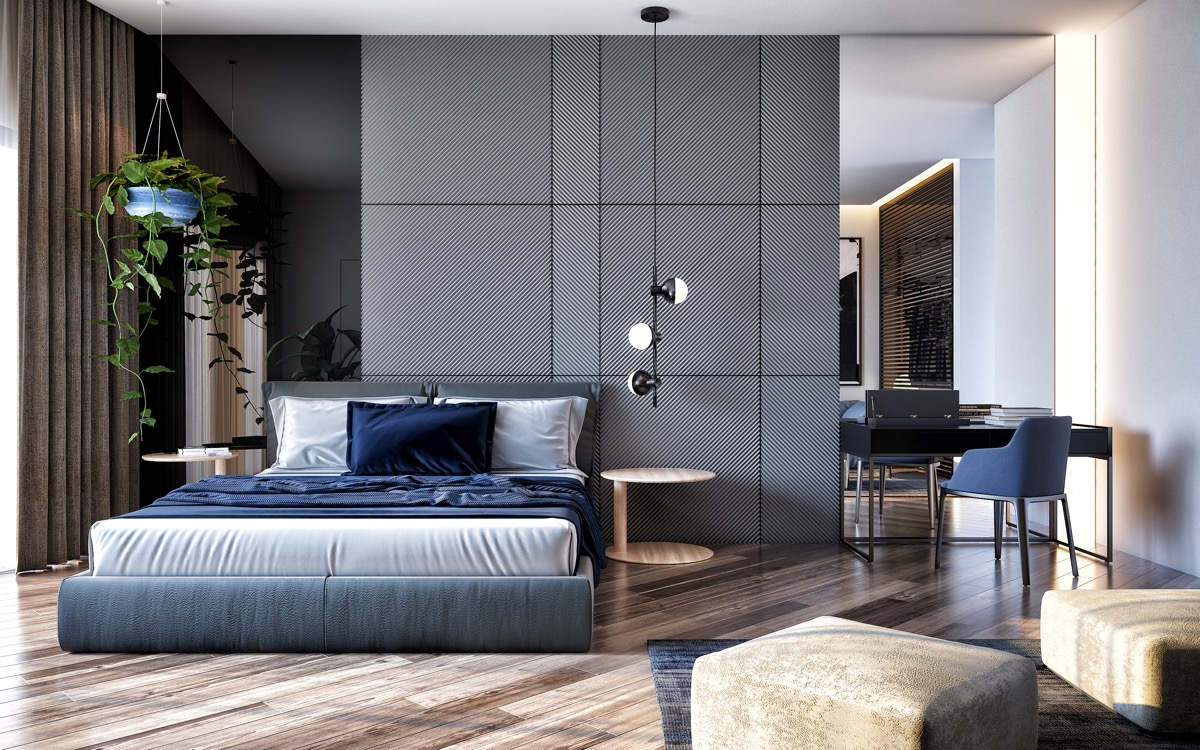 Accent Wall Ideas For Master Bedroom Modern Master Bedroom Feature Wall Architectural Design