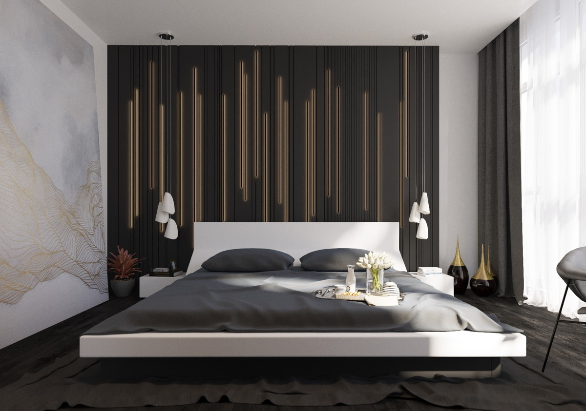 Modern Bedroom Walls 44 Awesome Accent Wall Ideas For Your Bedroom The Home