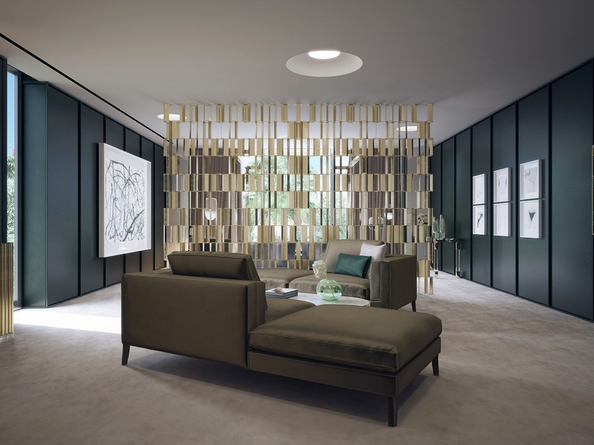 Beautiful Room Divider A Luxurious Mid Century Inspired Home In California