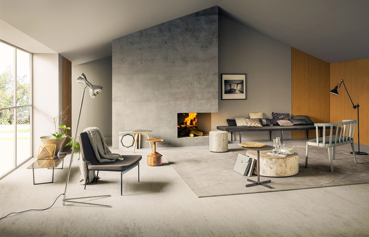 Concrete House Interior 40 Stylish Living Rooms That Use Concrete To Stand Out